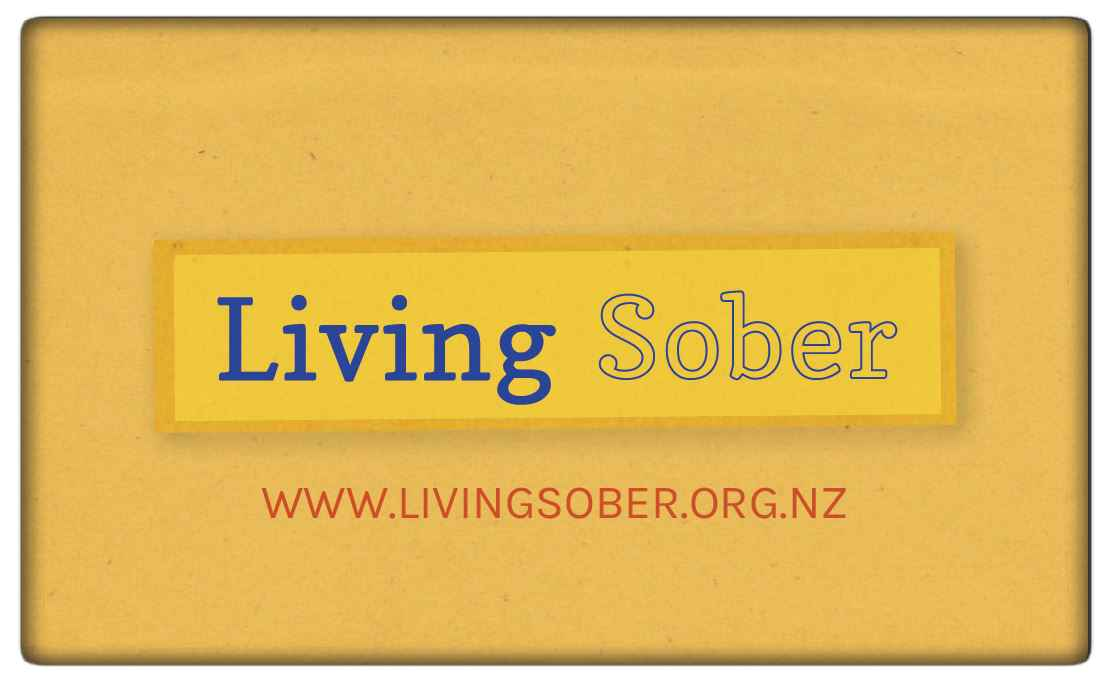 Living Sober wallet card